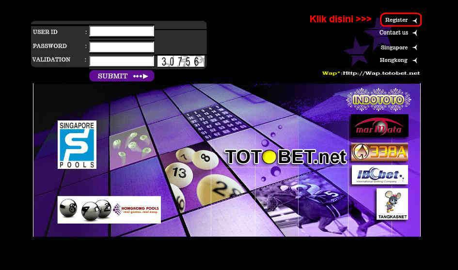 cara daftar totobet online